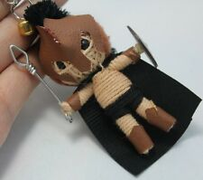 300 RISE EMPIRE KEYCHAIN KEY RING STRING DOLL VOODOO MINI HANDMADE BRAVE HERO
