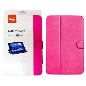 Verizon Folio Case W/ 3-Pack Verizon Screen Protector for LG G Pad 10.1 LTE