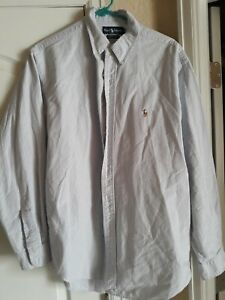 Ralph Lauren Mens Button Up Yarmouth l/s Shirt Size 17 36