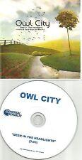 OWL CITY Deer In the Hedlights TST PRESS PROMO Radio DJ CD single 2011 USA