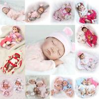 23'' Handmade Silicone Vinyl Reborn Baby Newborn Lifelike Dolls Girl Gift