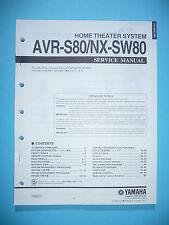 Manual de servicio para yamaha avr-s80/nx-sw80, original