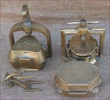 Set of 3 Dental Moulds Press Bridges Lab Articulator Tools Stellon Solid Brass