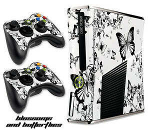Skin Decal Wrap for Xbox 360 Slim Gaming Console & Controller Xbox360 Slim B&BFL