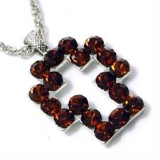 """21"""" Silver Plate Chain Necklace Topaz Crystal Studded Open Cross Pendant"""