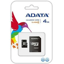 ADATA Carte mémoire micro SDHC avec adaptateur 4 Go, 4 MB/s (27x)  NEUF ****