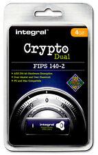 Crypto Dual-FIPS 140-2 encypted 4GB USB Flash Drive da integrato per PC & MAC