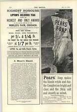 1894 Pubblicità sulle Bianche Scogliere di dover Lipton FIORIERA Ceylon