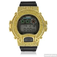Gold Canary Custom Iced Out Mens G Shock Watch DW-6900