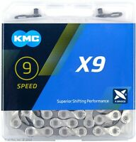 KMC X9 9-Speed Stretch-Proof Bike Chain Road MTB X9.93 fits Campy Shimano SRAM