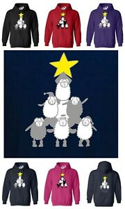 SHEEP CHRISTMAS TREE, Funny Adult Hoody, PERSONALISE FOR FREE! Merry Christmas!