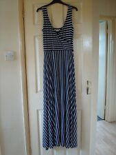 Boden navy & white striped stretch maxi dress UK size 10R