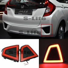 Car LED Rear Bumper Lamps Fog Brake Tail Lights For  Honda Jazz/Fit 2014-2015