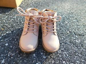 NAUTICA Ankle Boots Blush Pink Metallic Rose Gold trim size zip Sz 9 Clean Fancy