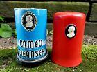 Vintage 1940s Red Bakelite Cameo Ajax Comet Cleanser Shaker Dispenser