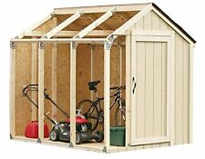 Hopkins Shed KIt, 90192, Peak Style Roof, by 2X4 Basics