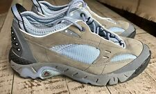 ECCO Receptor Women's Hiking Trail Shoes Blue Gray Leather Sneaker Size 6.5 Us