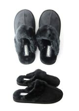 Ladies Womens Genuine Faux Fur Sheepskin Slippers Mules Non Slip Hard Sole Size