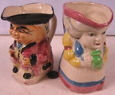 2 Vintage Creamer Toby Mugs Made in Japan