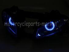 Headlight lamp HID Fully Assembled Blue Angel Eyes For Yamaha YZF R6 2006-2007