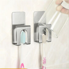 Stainless Steel Electric Toothbrush Holder Wall Suction Home Bathroom Adhesiv LH
