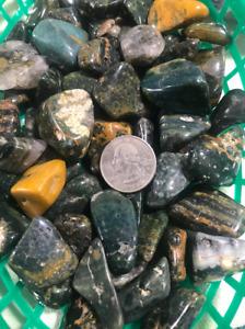 Sea Ocean Jasper Tumble Stone ~ Lex's Lucky Rocks Beagle Fundraiser