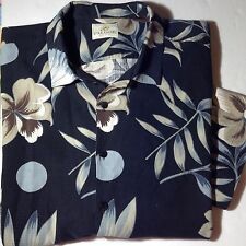 Paradise By Axis Hawaiian Short Sleeve Shirt Button Front 100% Silk