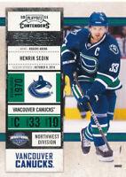 Henrik Sedin 2010-11 Panini Playoff Contenders #20 Vancouver Canucks Card
