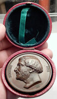 1846 FRANCE Homage Medal to SOCIALIST Author of WANDERING JEW Eugene Sue i70690