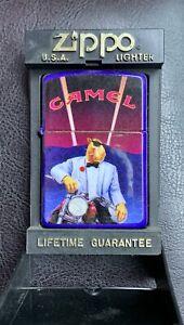 Zippo Joe Camel on Motorcycle Lighter & Display Case 1993 - Unfired
