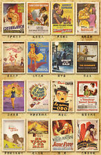 32 pcs Classic Movie Posters Old Advertising Postcards Wall Decoration Cards Set