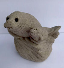 Manatee Sand-Deco Momma/Baby On Rocks Figurines Collectible Sand Art Collectable