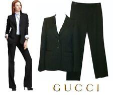 f233406b8 GUCCI ~ Classic Pantalones Traje Negro De Rayas ~ Tamaño: M * Auténtico