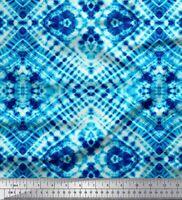 Soimoi Blau Baumwoll-Voile Stoff Tiere tie-Farbstoff gedruckt Craft-sZL