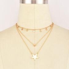 Choker Chain Jewelry Gift Ld Women Multi-layer Unique Star Pendant Necklace