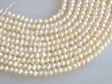 Freshwater Pearl Metallic White Color Small Potato Shape 2.5x3mm (#190)