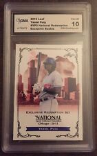 YASIEL PUIG 2013 LEAF NATIONAL CONVENTION VIP REDEMPTION ROOKIE RC YP3 GRADED 10