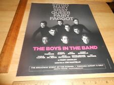 The Boys In The Band BROADWAY EVENT OF THE SUMMER w/Parsons Bomer...NYC AD 2018