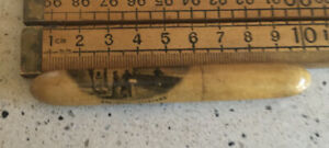 Antique Mauchline Ware Needle Case, Spa Well Gilsland, Antique Needle Case