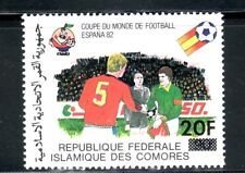 SELLOS DEPORTES FUTBOL COMORES 1982 354 SOBRECARGA COPA DEL MUNDO DE FUTBOL