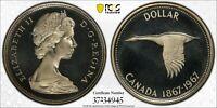 1967 CANADA SILVER DOLLAR PCGS PR68CAM CHOICE UNC BU TOP 10 HIGHEST GRADED (DR)