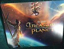 4 Disney Store Lithographs For Treasure Planet With Portfolio