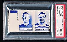 1961 Topps Stamp Panels GLENN HALL LEO BOIVIN HOF PSA 6