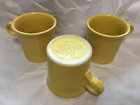 Fiestaware HLC Homer Laughlin Yellow Coffee Mug Set Of 3
