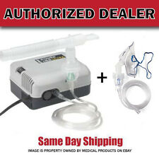 Compact Portable Nebulizer Compressor with MASK Kit + 5 Bonus Filters + Neb Kit
