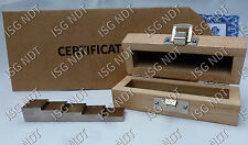 5-step Certified 304 Stainless Steel Calibration Block Ultrasonic Thickness
