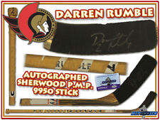 DARREN RUMBLE Signed Game Used Stick OTTAWA SENATORS - SHERWOOD