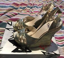 D~Havz by Terry de Havilland Leather Platform Wedge Shoes UK Size 4, EU 37, BNIB