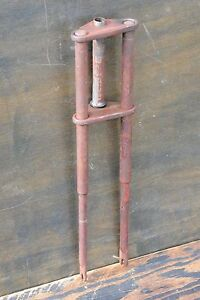 "Vintage Rat Rod Mini Bike TRIPLE TREE SPRINGER FORK 1"" Schwinn Cruiser Bicycle"