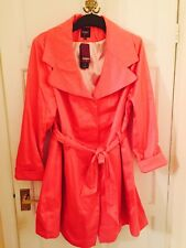 Bnwt Ladies New Look Inspire Pink jacket/coat  Polka Dot Lining  Size 20